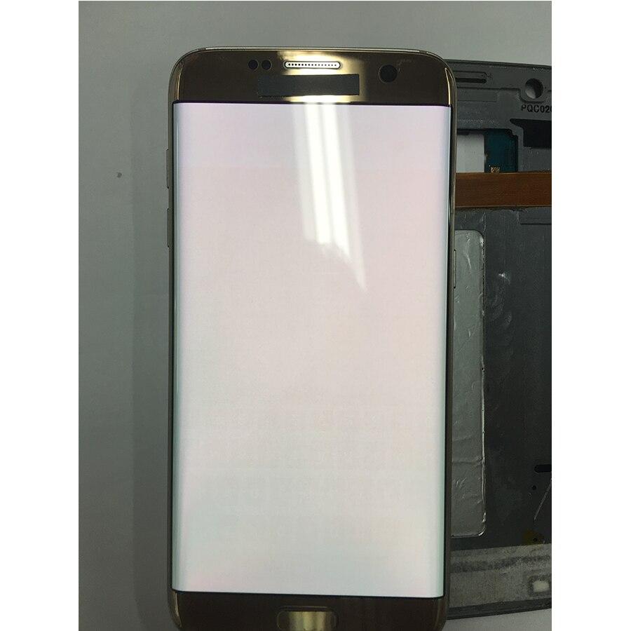AMOLED 5.5 ''écran avec grand écran LCD avec cadre pour SAMSUNG Galaxy S7 edge G935 G935F écran tactile numériseur