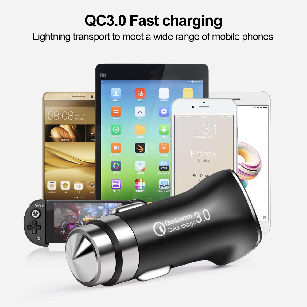 新的安全-锤汽车的负载5V3A,快速充3-0车载充电器USB智能汽车,快速(4)