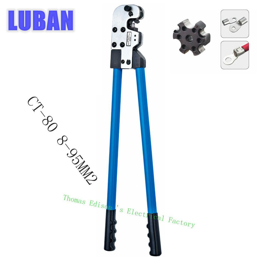 CT-80 COPPER TUBE TERMINAL CRIMPING TOOL BS standard type terminals 8-95MM2 CRIMPING PILER crimping tools big size
