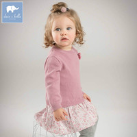 DB7361 Dave Bella Spring Baby Girls Princess Dress Kids Fashion Birthday Clothes Children Toddler Knitted Sweater