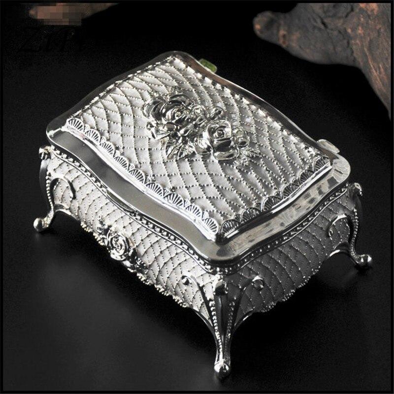 Новые яркие Олово Европейский стиль princesshexagram High-end шкатулка туалетный ящик коробка для хранения подарки
