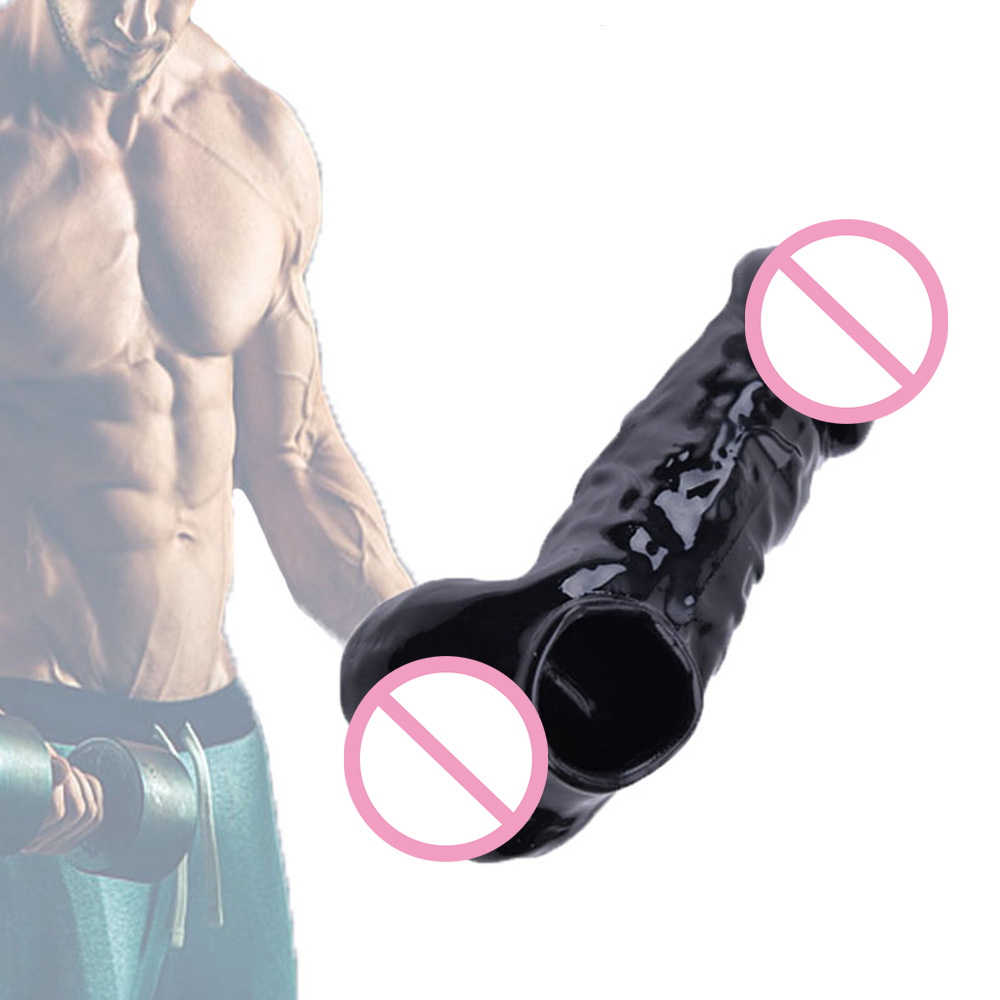 Penis Extension Sleeves Silicone Penis Enlargement Condoms For Adults Intimate Goods Reusable Condom Cock Rings