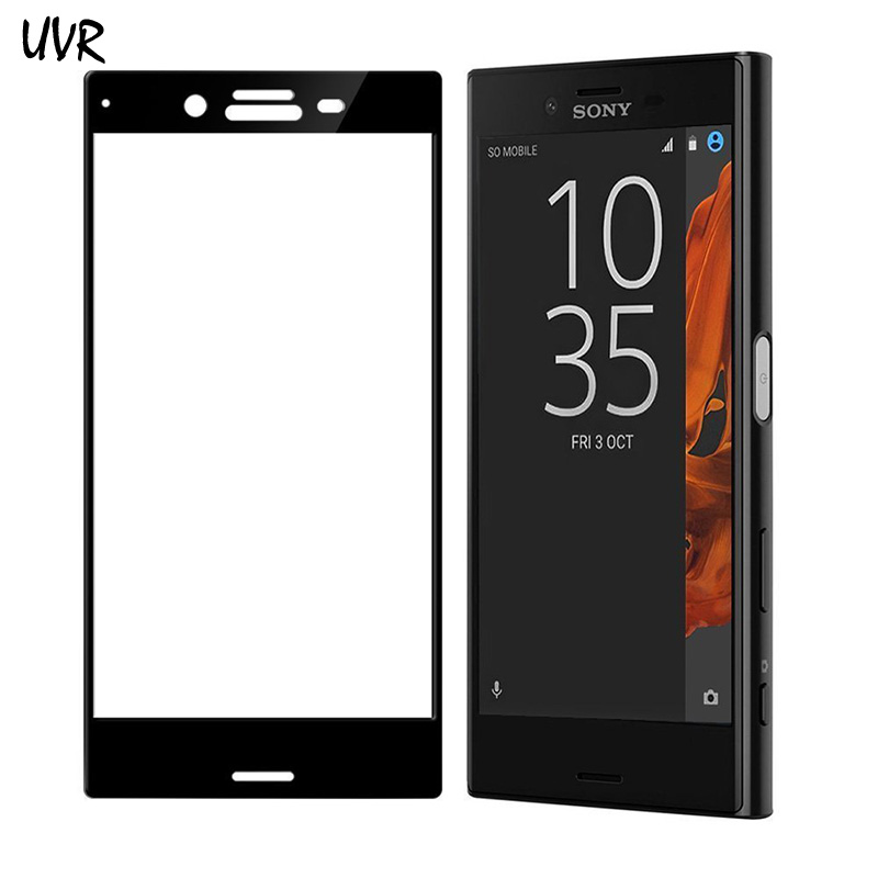 UVR 3D Curbat Pentru Sony Xperia XZ Dual Acoperire completă 9H Protector de ecran din sticlă temperată Protecție pentru film Sony XZ F8332