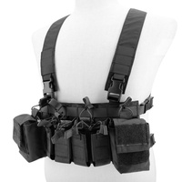 Black Tactical Vest Tactical Combat Recon Vest with Magazine Pouch Walkie talkie bag Airsoft Hunting Paintball Vest