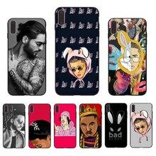 IMIDO ad Bunny Maluma Ozuna POP Hip Hop Rapper Soft Transparent phone case For iPhone 6 7 8 XR X XS XSmax 5 6s/6/7/8plus shell ozuna bogota