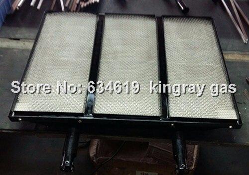 Brûleur infrarouge de gaz de plaque en céramique de nid d'abeilles de grand carré de conception, brûleur infrarouge de carreaux de céramique de cordiérite émaillés de grande taille