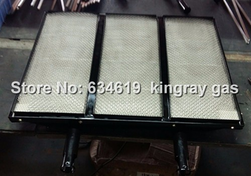 New design square large honeycomb ceramic plate gas infrared burner, big size enamelled cordierite ceramic tiles infrared burner