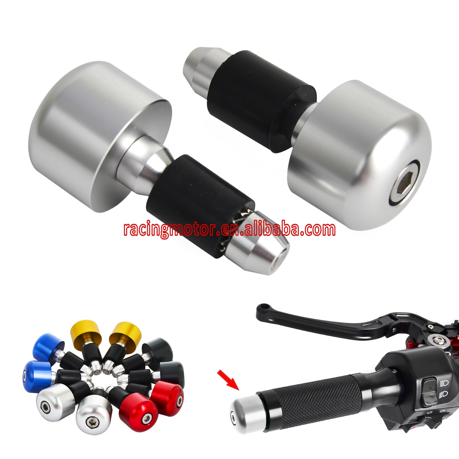 "22mm (7/8 "") per manubrio Cap Bar Ends per Ducati Monster S2R S4 S4R Multistrada 1000 1100 1200 MTS1200 ST2 ST3 ST4 SS400 SS800"