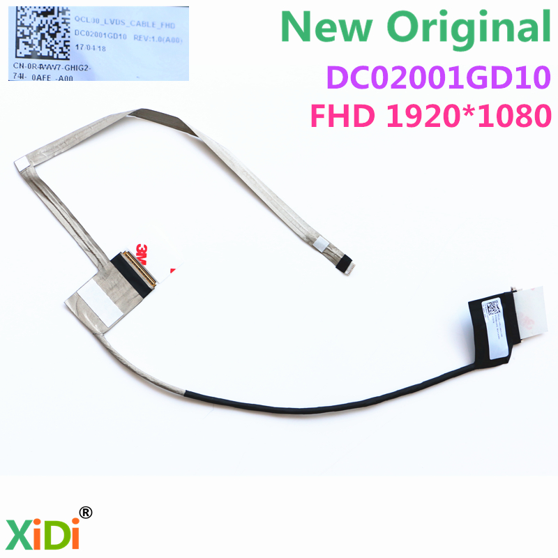 New QCL00 DC02001GD10 FHD LCD LVDS CABLE FOR DELL INSPIRON 5520 5525 7520 CN-0R4WW7 R4WW7 FHD LCD LVDS CABLE