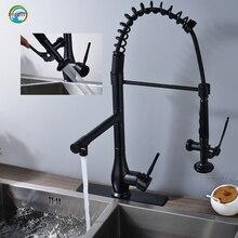 ORB и черный кухни смесители простой и красивый кухонный кран Одной вращения