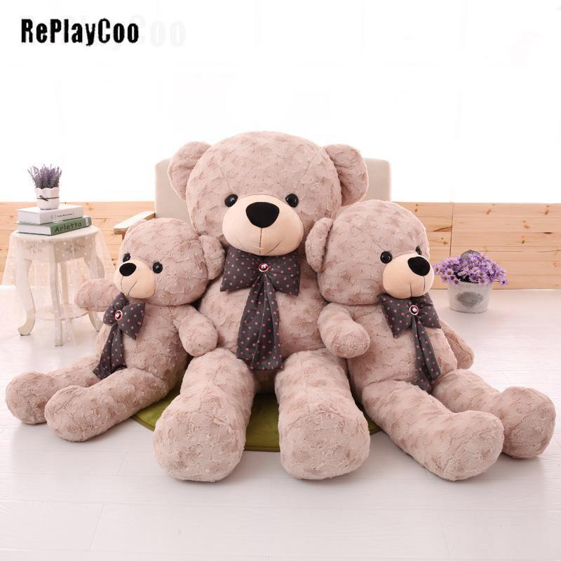 White Large Relax Bear Plush Toy Doll Pillow Best giant Xmas kids gift 60cm