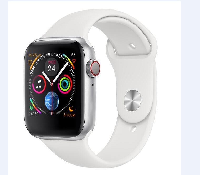 IWO 8 bluetooth bracelet de sport montre connectée Sans Fil De Charge Smartwatch 44 MM Série 4 pour Apple Montre Iphone Andriod téléphone