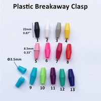 25pcs/lot DIY Necklace's breakaway plastic clasps Plastic Closure for Silicone Jewels Necklace