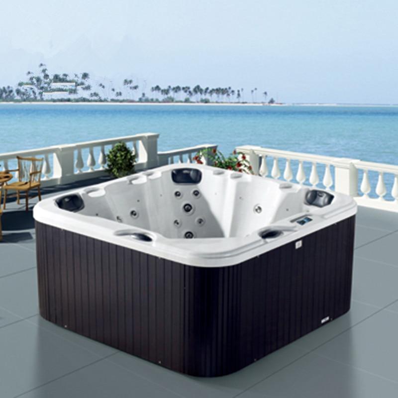 2x2 Meter Hohe Qualität Spa Massage Badewannen Aufblasbare Whirlpool M-3352 Badewanne Elegante Form Heimwerker Badewannen Und Whirlpools
