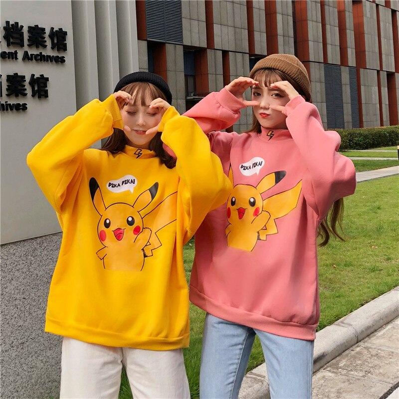 2020-spring-autumn-women-hoodies-turtleneck-cartoon-font-b-pokemon-b-font-print-sweatshirts-harajuku-kawaii-tops-pullovers