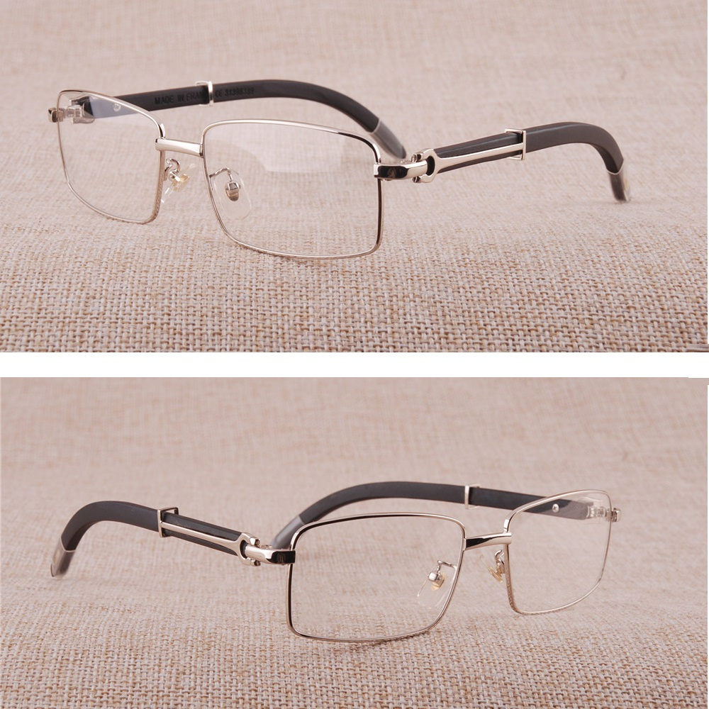Skillful Knitting And Elegant Design Men's Glasses Punctual Vazrobe Glasses Frame Men Wooden Eyeglasses Man Prescription Spectacles Luxury Brand Eyeglass Silver Wood Leg Full Rim Square To Be Renowned Both At Home And Abroad For Exquisite Workmanship