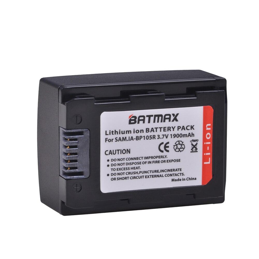 1Pc 1900mAh IA-BP105R IABP105R BP105R IA-BP210R IABP210R BP210R Battery For SAMSUNG SMX-F500 F501 F530 HMX-F900 F910 F920 H320