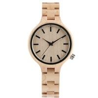 Stylish Watches Women Clock Wooden Chain Strap Pretty Luxury Maple Bangle Japanese Movement Watch Retro Reloj Hombre Relogio