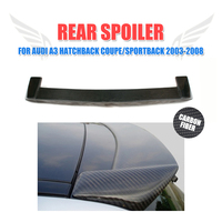 For Audi A3 Hatchback Coupe Sportback 2003 2008 Carbon Fiber Black Car Rear Roof Wing Spoiler Lip Sport Type