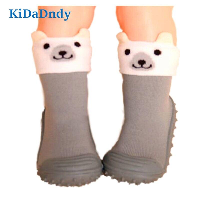 Children Socks Soft Bottom Non-Slip Floor Toddler Girl Boy Newborn Enfant Shoes Socks With Rubber Soles Kids Baby Socks LMY007R