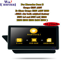 10.25'' Android 8.1 Autoradio For Mercedes Benz E Coupe C207 A207 E Class Coupe NGT4.0 NGT4.5 2009 2016 Car Radio GPS Navigation