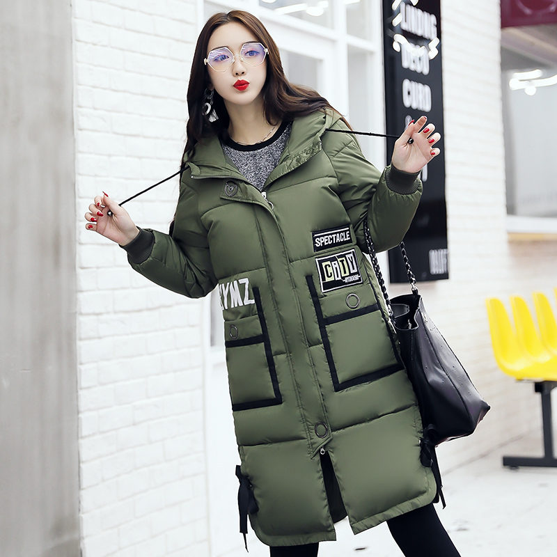 2017 New Hooded Cotton Coat Winter Coats Warm Parka Mujer Invierno Medium-Long Jackets for Women Padded Overwear Thickening coat 2017 winter down jackets women winter coats female long hooded cotton padded parka wadded outwear chaquetas invierno mujer yl739