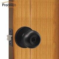 Probrico klamka wewnętrzna drzwi do sypialni gałka czarny bez kluczyka prywatności drzwi blokady trwałe drzwi do łazienki uchwyt z cylinder blokujący w Uchwyty do drzwi od Majsterkowanie na