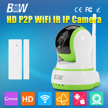 BW IP Digicam + Door Sensor Wifi HD 720P Safety Surveillance System Wi-fi Child Monitor Onvif P2P Cellphone Distant 1.0MP Video