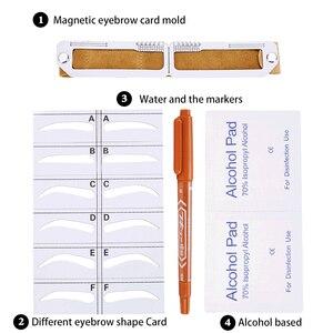 Image 2 - Microblading magnético maquiagem sobrancelha medida guia régua permanente ferramentas transporte da gota