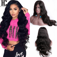 HC Body Wave Lace Front Wig With Baby Hair Brazilian Lace Wig Pre Plucked 150% Remy Hair Glueless Lace Frontal Human Hair Wigs