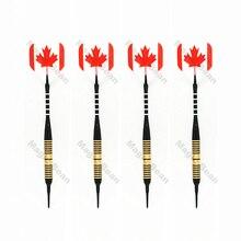 4 piecesset 18g Soft Tip Aluminum Shaft Brass Barrel Darts Electronic Dart ; 2BA Thread Dart