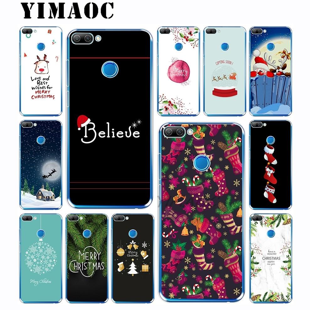 YIMAOC Merry Christmas Sock Soft Silicone Case for Huawei Honor 10 9i 9 8X 8 7C 7X 7A Pro 6A Lite & Nova 3i 3