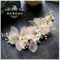Fios de seda coreano flor cocar noiva beleza vestido de casamento da noiva acessórios do cabelo do casamento