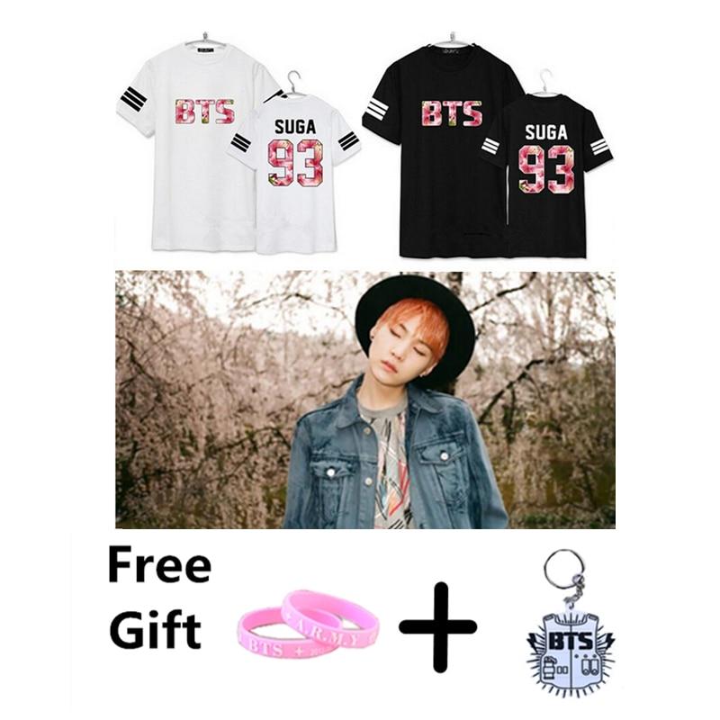 KPOP BTS Bangtan Boys Seoul Concert Jimin Jin V Rap monster T shirt cotton summer short sleeves tee