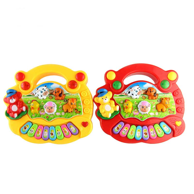 Animal Sounds Piano Note Music English Learning Interactive Educational Learning Machine Baby Kids Toy  Vocal Toy Xmas Gift