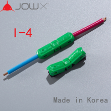JOWX I-4 10PCS 14~13AWG 2.5sqmm Straight Connection In-line 1 Way Cable Wire Conductors Terminals Connector Quick Splice Crimp