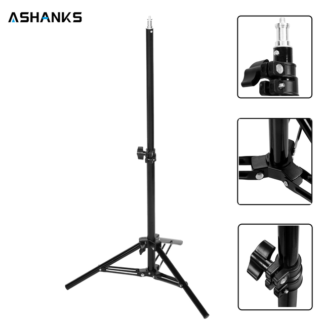 ashanks 65 cm light stand studio verlichting lamp statief voor camera e27 foto studio video lamp