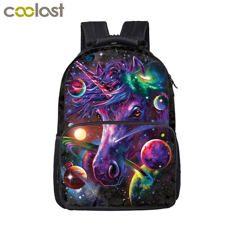 Cartoon Galaxy Unicorn Backpack For Teenage Girls Boys Kawaii Schoolbags Children School Bags Kids Book Backpack Best Gift funny cartoon game over backpack for teenage boys girls children school bags kids backpack laptop shoulder bags best gift