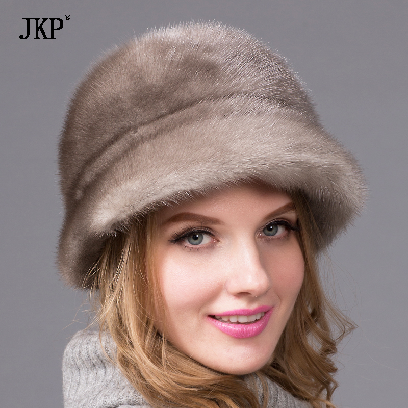 Real Mink fur hat for women winter Mink fur beanies cap brand new thick female cap free shipping mink fur kintted cap fur cap fur hat wholesale