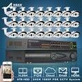 POE Коммутатор 9 ТБ HDD 24CH NVR 24CH CCTV Сетевой Видеорегистратор Системы 1080 P 2.0 МП HD Массив ИК Открытый ВИДЕОНАБЛЮДЕНИЯ POE IP Camera Kit