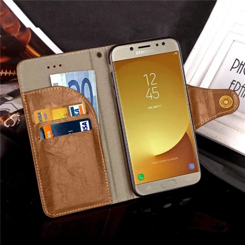 Galleria fotografica sFor Samsung J5 2017 Etui J5 Pro Cover Case For Coque Samsung Galaxy J5 2017 Case Cover Luxury Leather Flip Stand Wallet Funda
