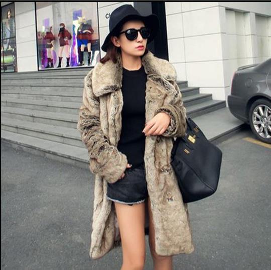 Artificielle Plus Nouveau Femmes D'hiver 2018 Furry Fausse De Outwear Taille La Fourrure Veste En Z359 Manteau Femme Faux 1q18xfwP