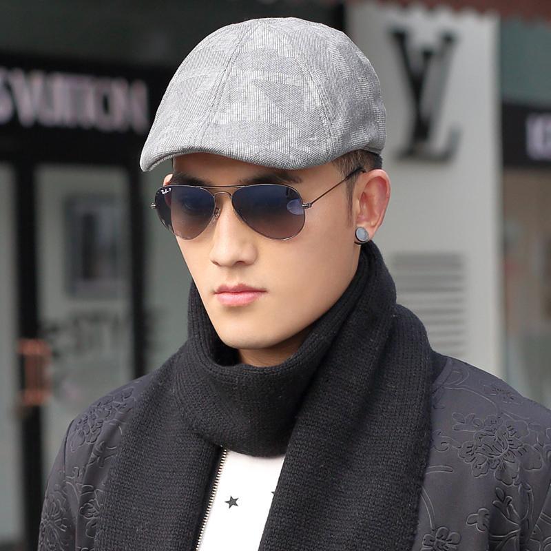 New 2015 New Cotton Beret Men autumn and winter fashion temperament yuppie  wind cap beret painter cap Men s Hats advance 70a0e1169bf