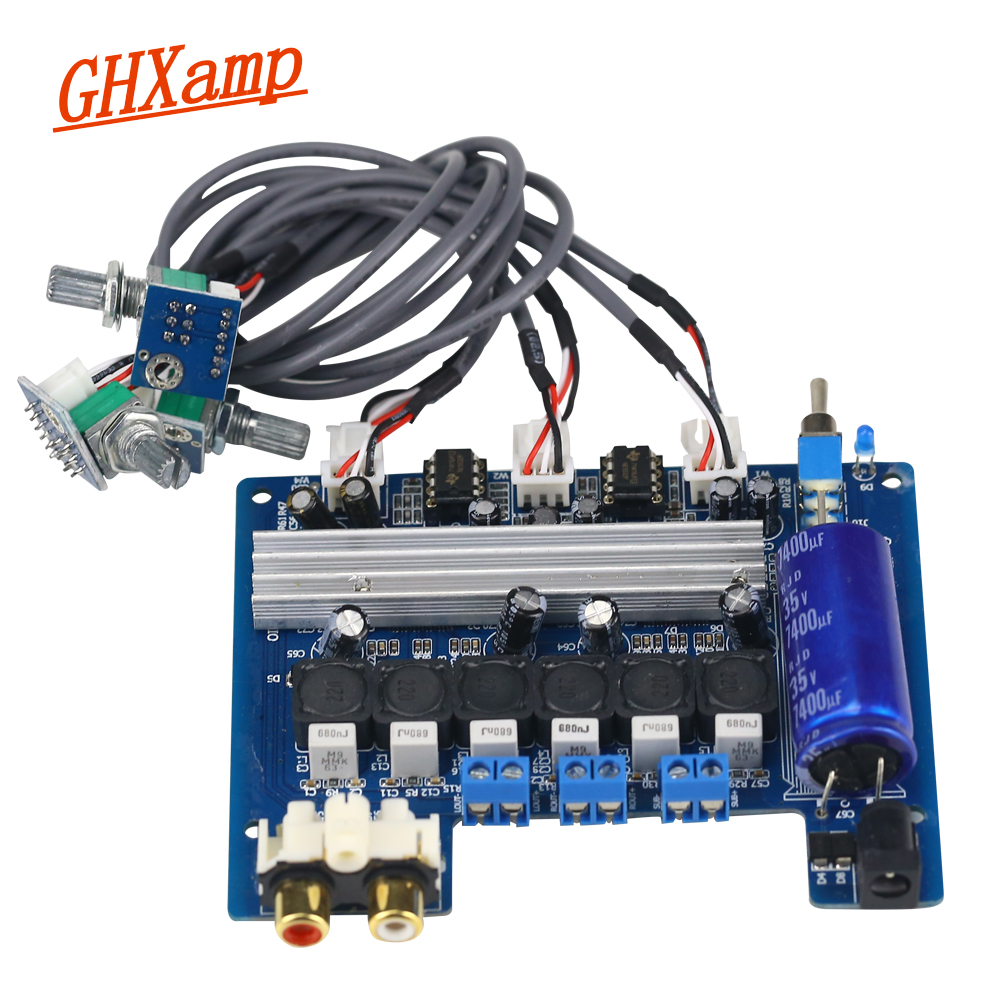 Ghxamp 2.1 Subwoofer Amplifier Audio Board TPA3116D2 50W*50W+100W Digital Power Amplifiers NE5532 Subwoofer Speaker DIY