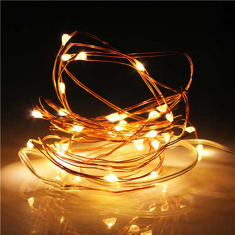New Year Christmas Garland Waterproof Copper <font><b>Wire</b></font> LED String Lamp Fairy lights 2m/5m Length for indoor Decorations image