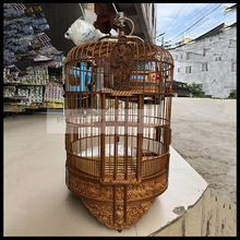 1 set 36cm Thrush cage high class handmade bamboo made myna grackle bird