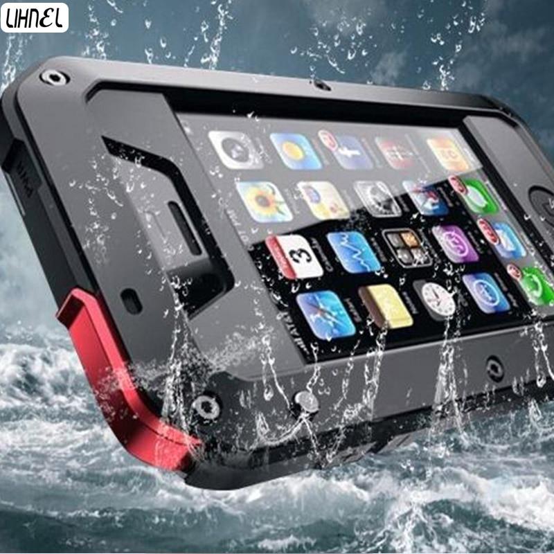 LIHNEL für 5C 5 S 1:1 Doom rüstung Wasserdichter Shockproof Aluminum Gorilla Metall auswirkungen Fall für iPhone5 5C 5 S 4 S 6 6 S Plus 7 Plus