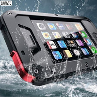 LIHNEL for 5C 5S 1:1 Doom armor Waterproof Shockproof Aluminum Gorilla Metal Impact Case for iPhone5 5C 5S 4S 6 6S Plus 7 Plus