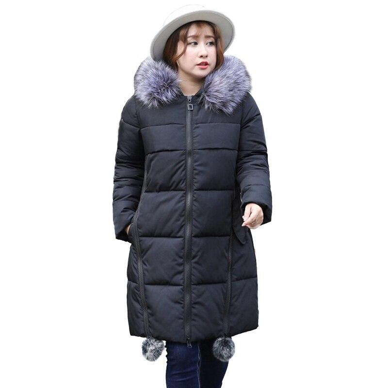 Chaqueta de algodón de invierno Parkas de mujer tamaño Super grande 4XL 8XL  abrigo grueso con capucha Tops abrigos de algodón de plumón femenino 140 kg  se ... df0960dd12a5