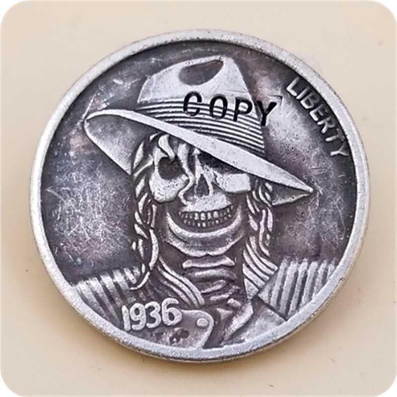 Hobo Nikkel Coin_Type # 35_1936-S BUFFALO NICKEL COIN COPY GRATIS VERZENDING